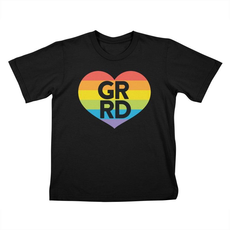 GRRD Pride Kids T-Shirt by Grand Raggidy Roller Derby