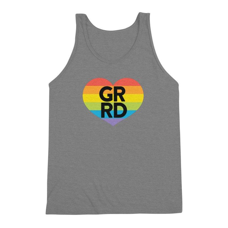 GRRD Pride Men's Triblend Tank by Grand Raggidy Roller Derby