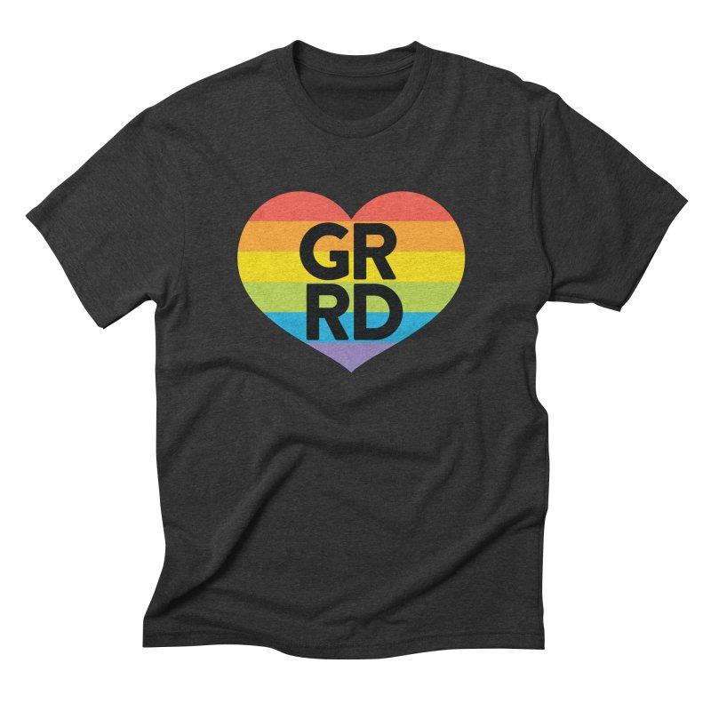 GRRD Pride Men's Triblend T-Shirt by Grand Raggidy Roller Derby