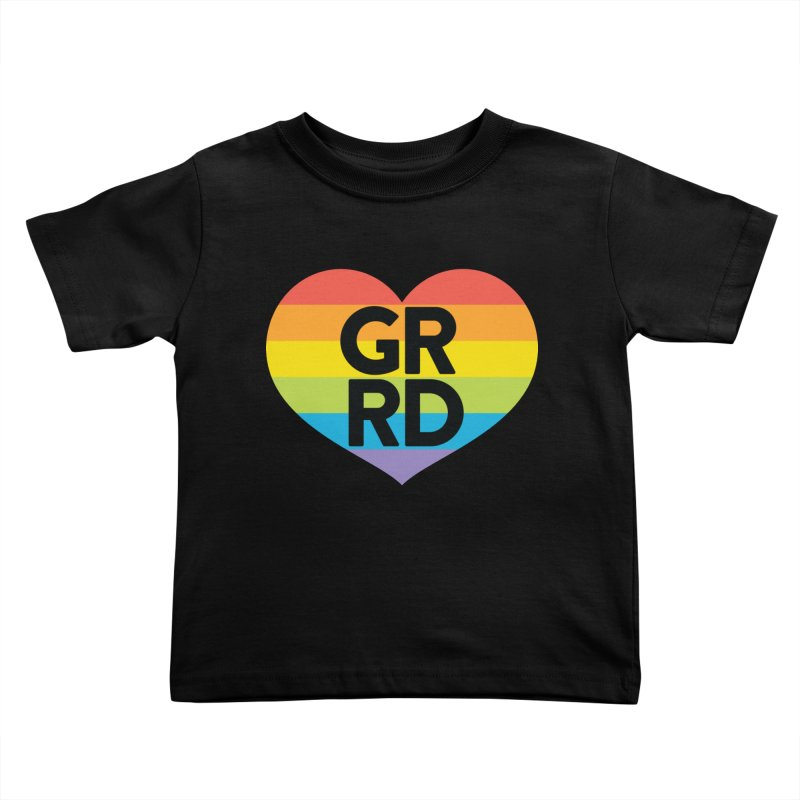 GRRD Pride Kids Toddler T-Shirt by Grand Raggidy Roller Derby