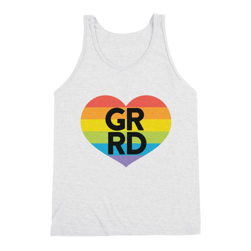GRRD Pride Men's Triblend Tank by Grand Raggidy Roller Derby