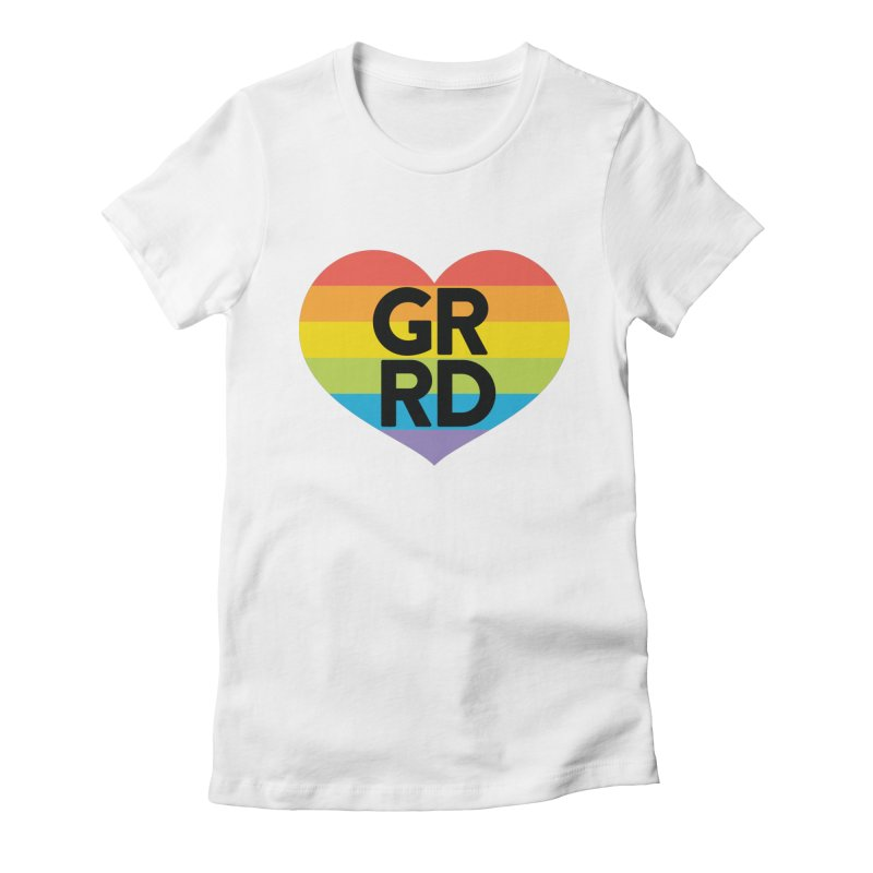 GRRD Pride Women's Fitted T-Shirt by Grand Raggidy Roller Derby