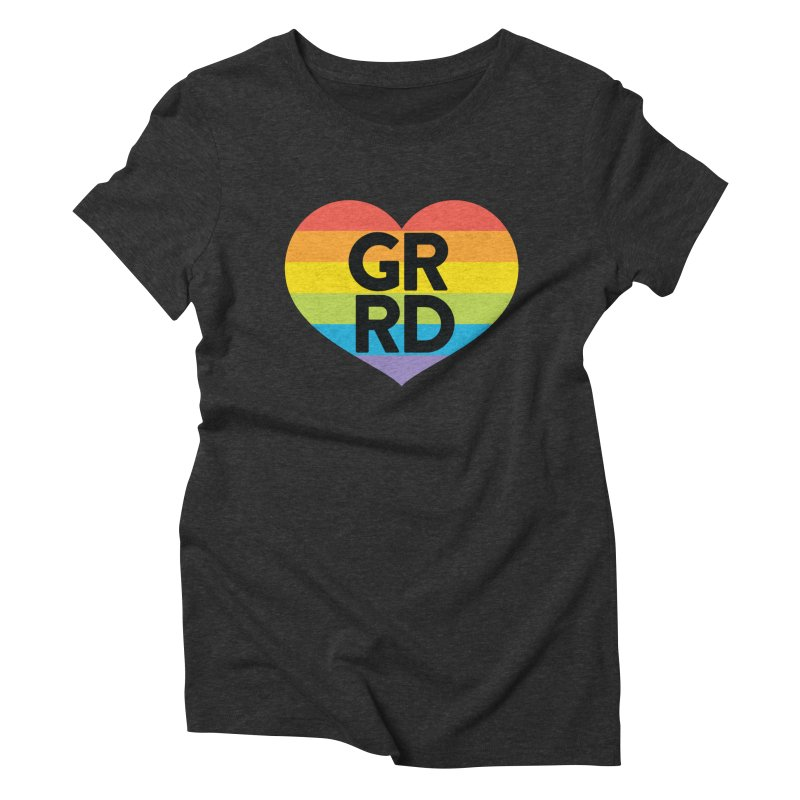 GRRD Pride Women's Triblend T-Shirt by Grand Raggidy Roller Derby