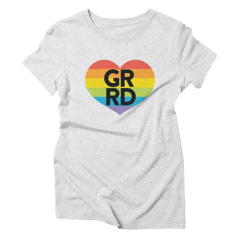 GRRD Pride Women's Triblend T-Shirt by Grand Raggidy Roller Derby