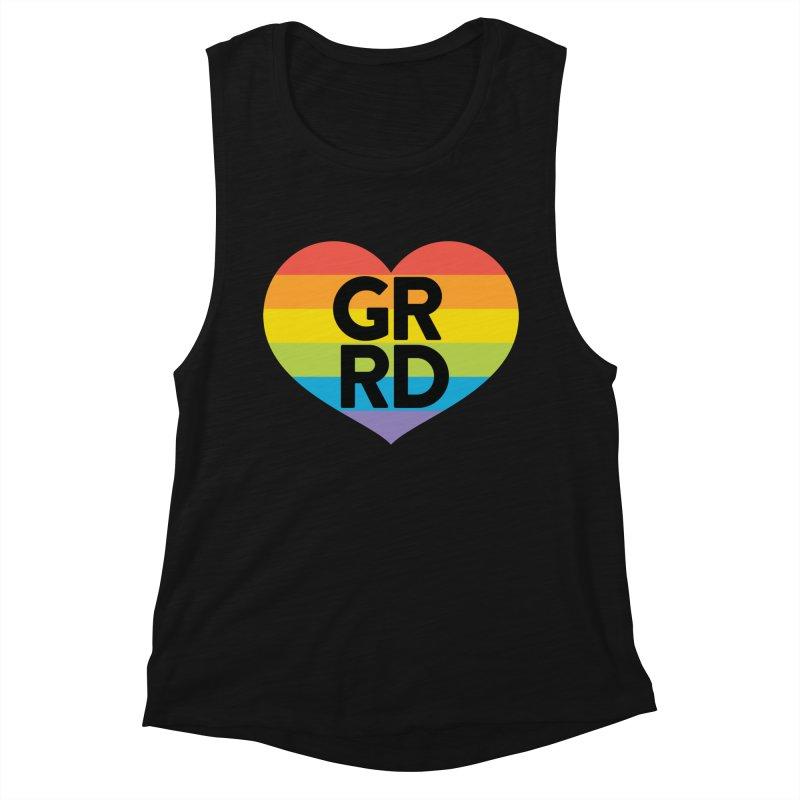 GRRD Pride Women's Muscle Tank by Grand Raggidy Roller Derby