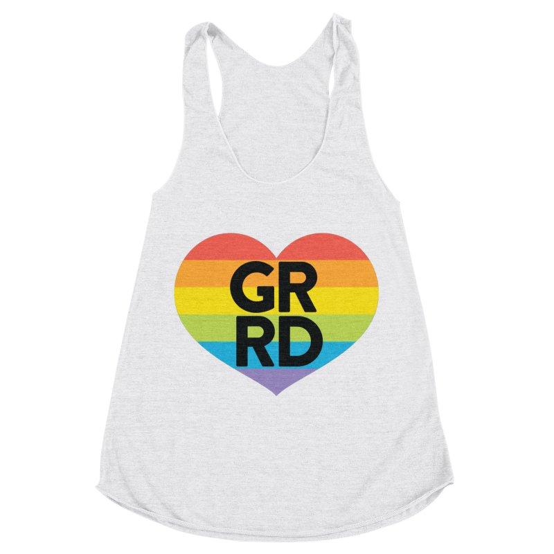 GRRD Pride Women's Racerback Triblend Tank by Grand Raggidy Roller Derby