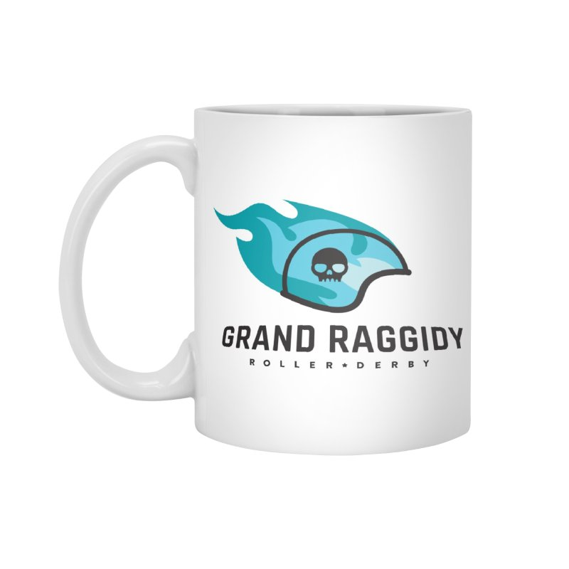 Flame Logo Accessories Mug by Grand Raggidy Roller Derby