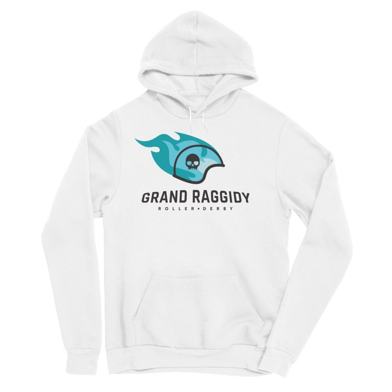 Flame Logo Men's Pullover Hoody by Grand Raggidy Roller Derby
