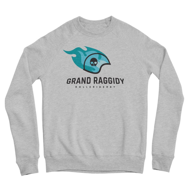 Flame Logo Men's Sponge Fleece Sweatshirt by Grand Raggidy Roller Derby