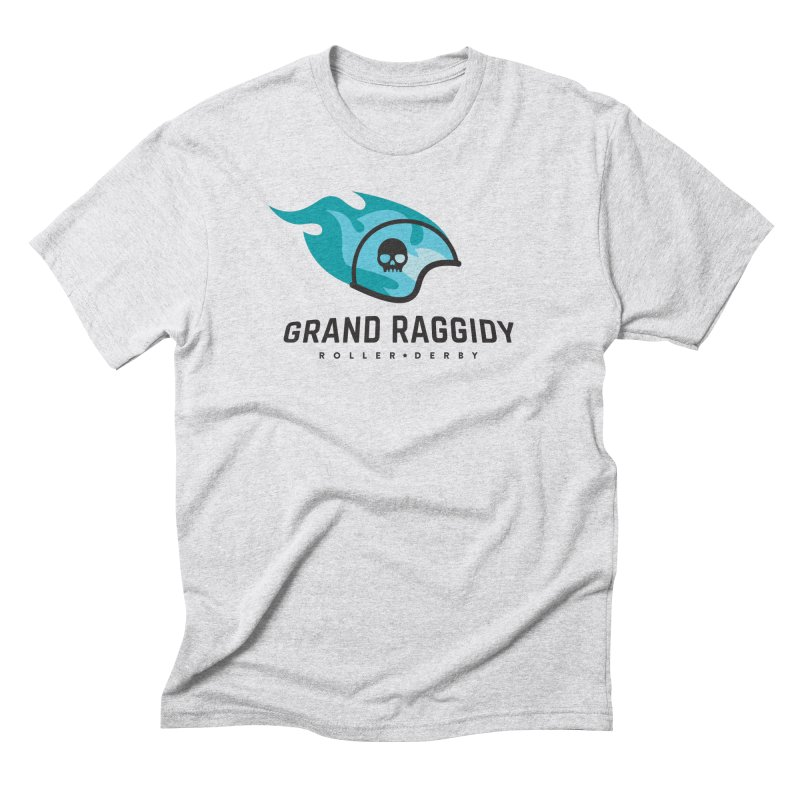 Flame Logo Men's Triblend T-Shirt by Grand Raggidy Roller Derby