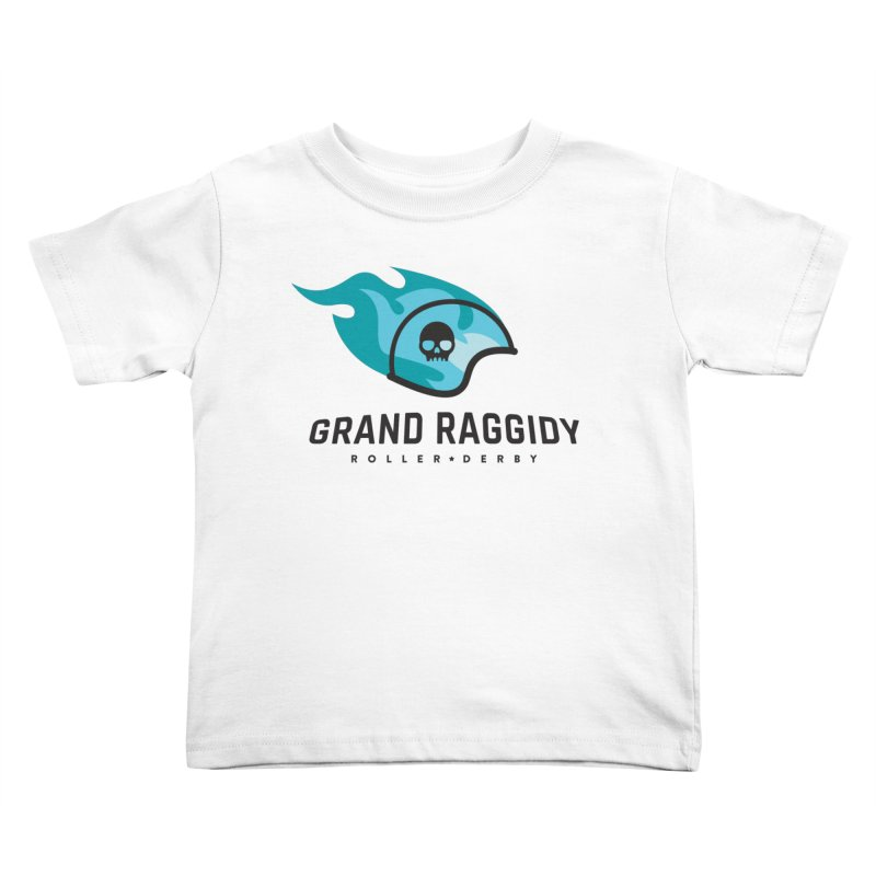 Flame Logo Kids Toddler T-Shirt by Grand Raggidy Roller Derby
