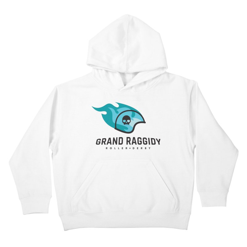 Flame Logo Kids Pullover Hoody by Grand Raggidy Roller Derby