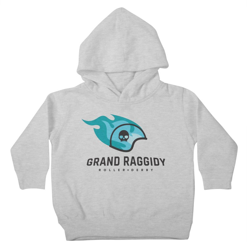 Flame Logo Kids Toddler Pullover Hoody by Grand Raggidy Roller Derby
