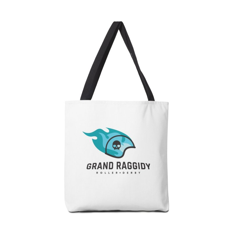Flame Logo Accessories Tote Bag Bag by Grand Raggidy Roller Derby