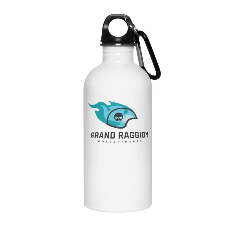 Flame Logo Accessories Water Bottle by Grand Raggidy Roller Derby