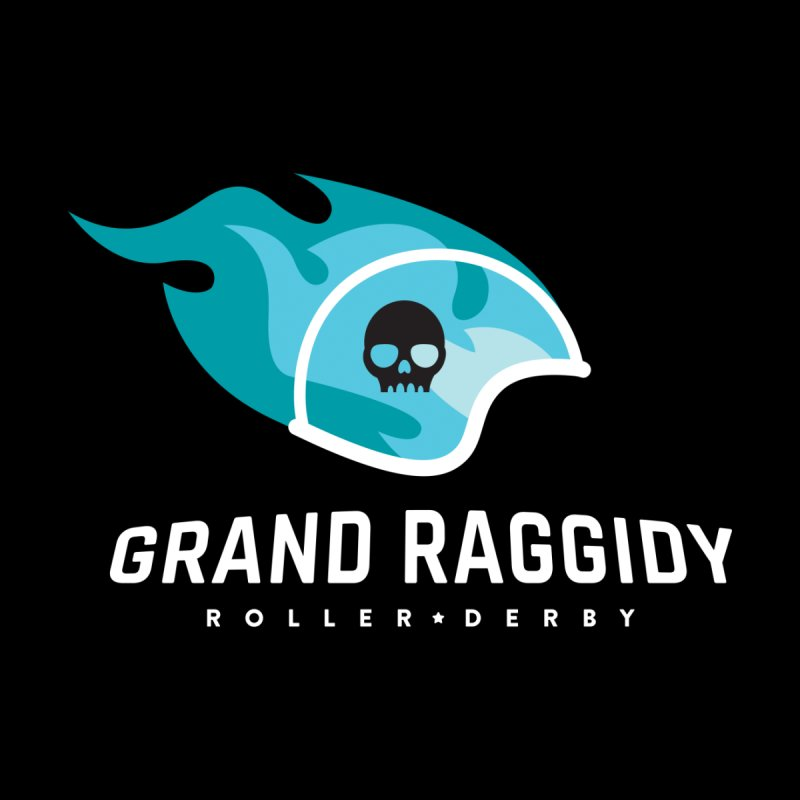Flame Logo - Reverse Men's Pullover Hoody by Grand Raggidy Roller Derby