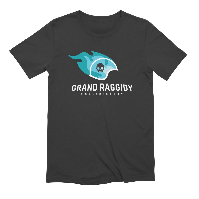 Flame Logo - Reverse Men's T-Shirt by Grand Raggidy Roller Derby