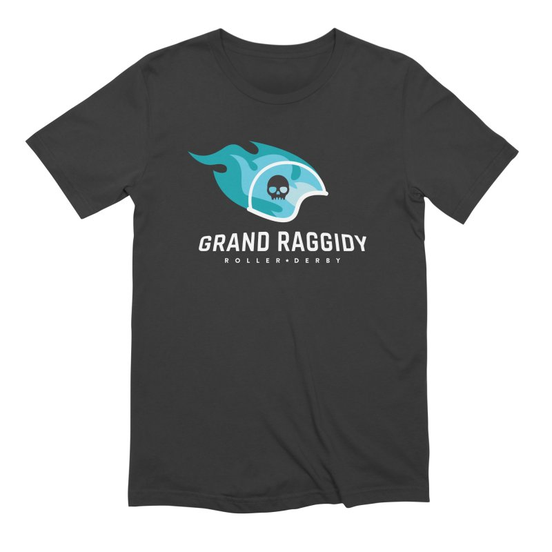 Flame Logo - Reverse Men's Extra Soft T-Shirt by Grand Raggidy Roller Derby