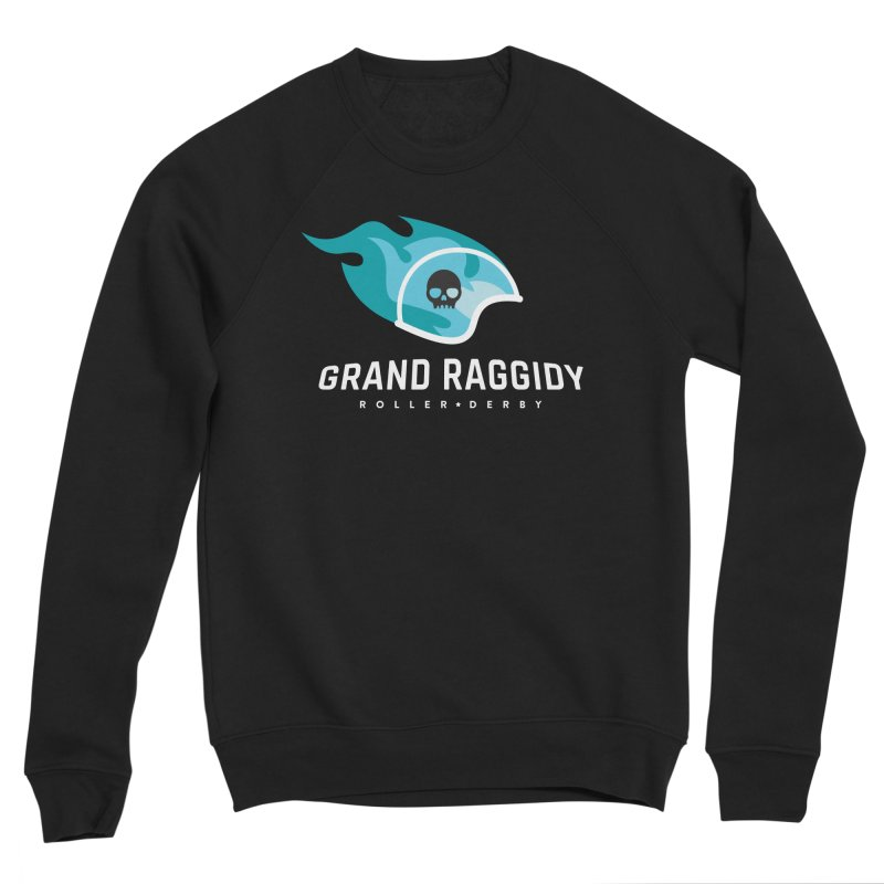 Flame Logo - Reverse Men's Sponge Fleece Sweatshirt by Grand Raggidy Roller Derby