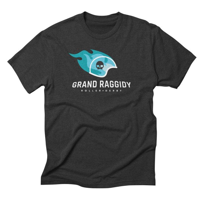 Flame Logo - Reverse Men's T-Shirt by Grand Raggidy Roller Derby