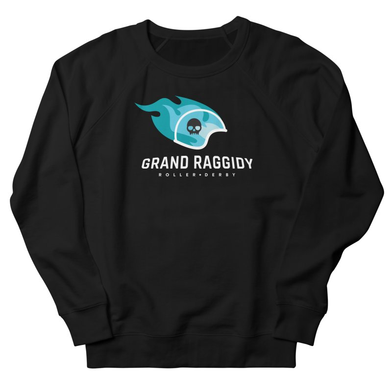 Flame Logo - Reverse Women's French Terry Sweatshirt by Grand Raggidy Roller Derby