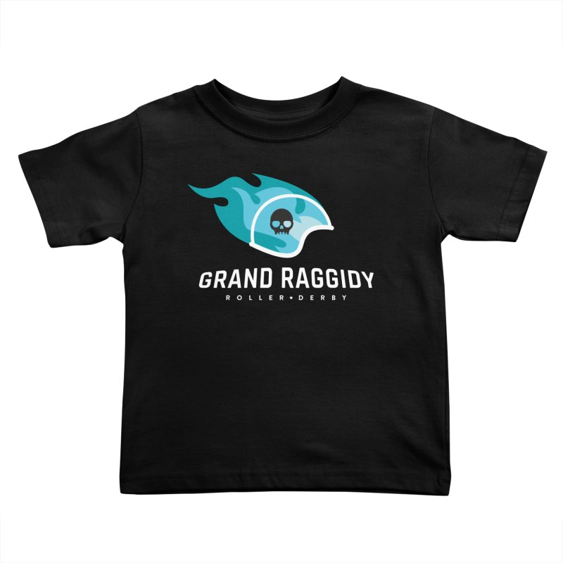 Flame Logo - Reverse Kids Toddler T-Shirt by Grand Raggidy Roller Derby