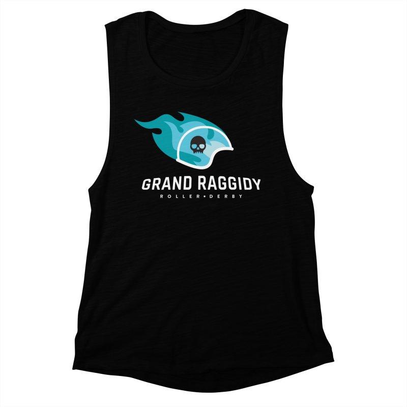 Flame Logo - Reverse Women's Muscle Tank by Grand Raggidy Roller Derby