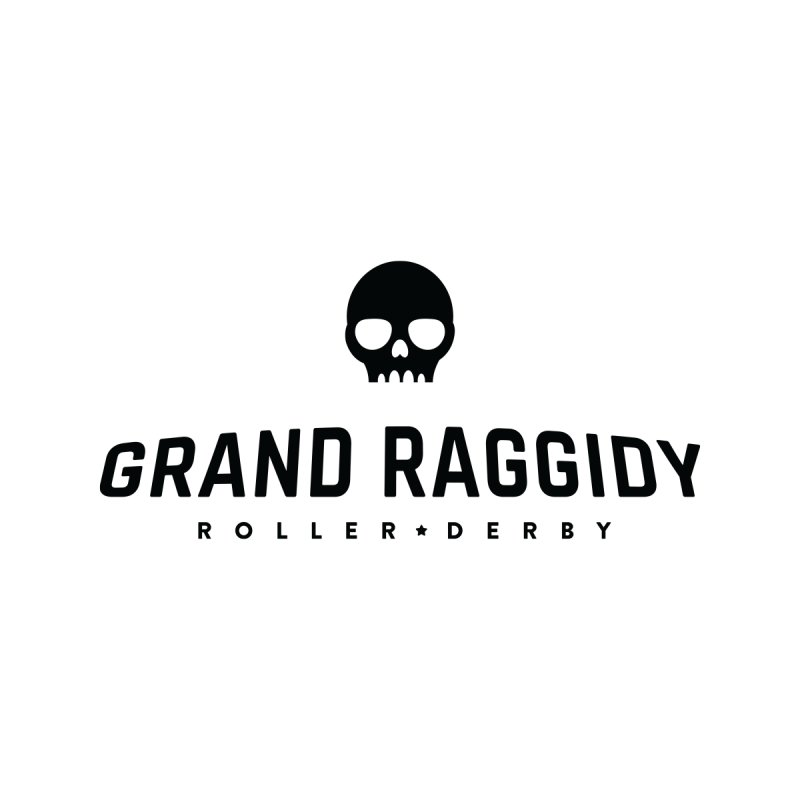 Skull Logo Accessories Sticker by Grand Raggidy Roller Derby