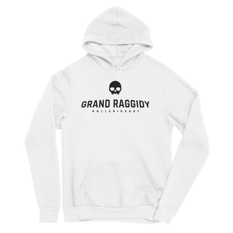 Skull Logo Men's Sponge Fleece Pullover Hoody by Grand Raggidy Roller Derby