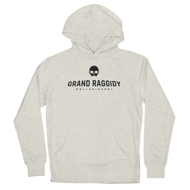 Skull Logo Women's French Terry Pullover Hoody by Grand Raggidy Roller Derby