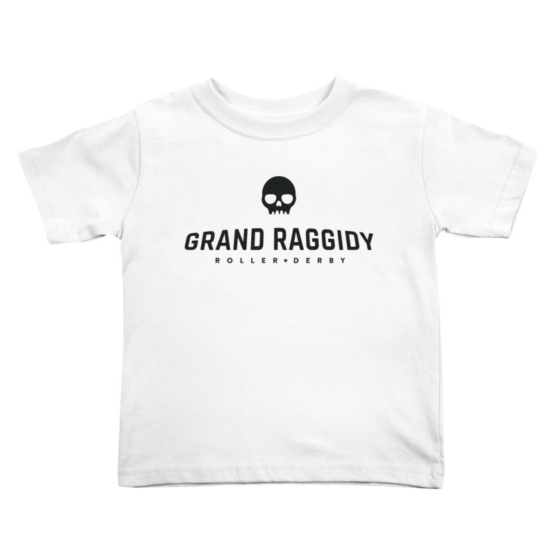 Skull Logo Kids Toddler T-Shirt by Grand Raggidy Roller Derby