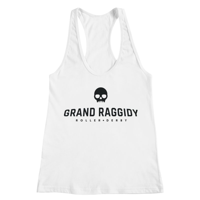 Skull Logo Women's Racerback Tank by Grand Raggidy Roller Derby