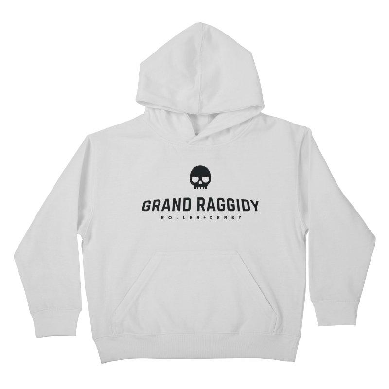 Skull Logo Kids Pullover Hoody by Grand Raggidy Roller Derby