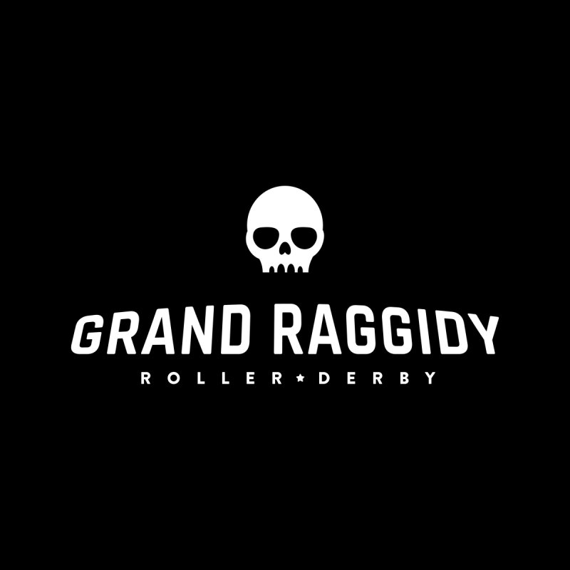 Skull Logo - Reverse Accessories Sticker by Grand Raggidy Roller Derby