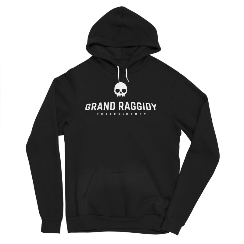 Skull Logo - Reverse Men's Pullover Hoody by Grand Raggidy Roller Derby