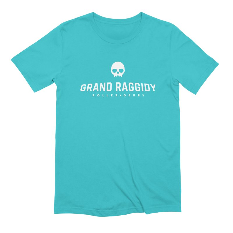 Skull Logo - Reverse Men's Extra Soft T-Shirt by Grand Raggidy Roller Derby