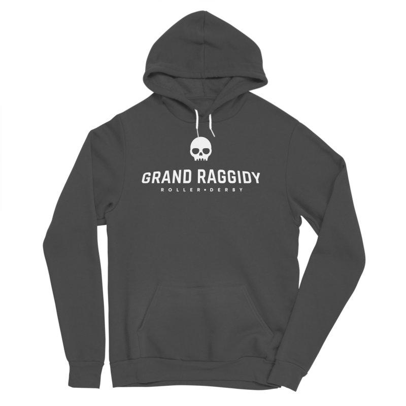 Skull Logo - Reverse Men's Sponge Fleece Pullover Hoody by Grand Raggidy Roller Derby
