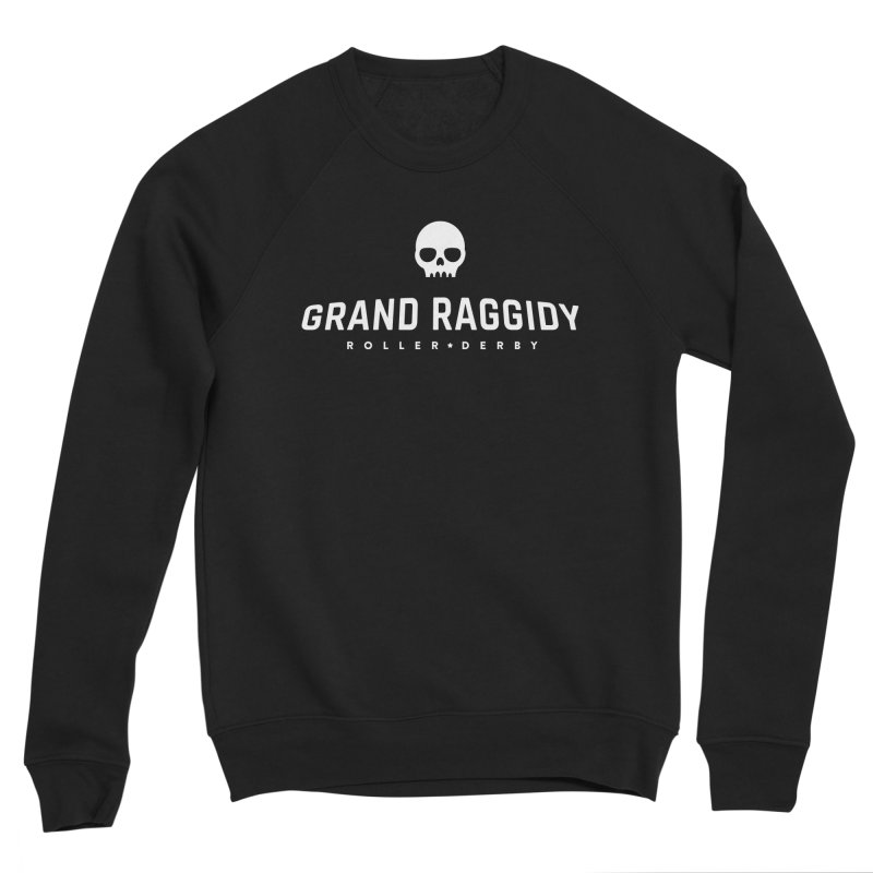 Skull Logo - Reverse Men's Sponge Fleece Sweatshirt by Grand Raggidy Roller Derby