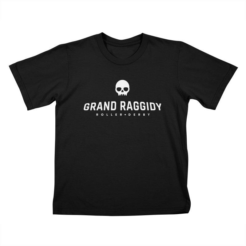 Skull Logo - Reverse Kids T-Shirt by Grand Raggidy Roller Derby