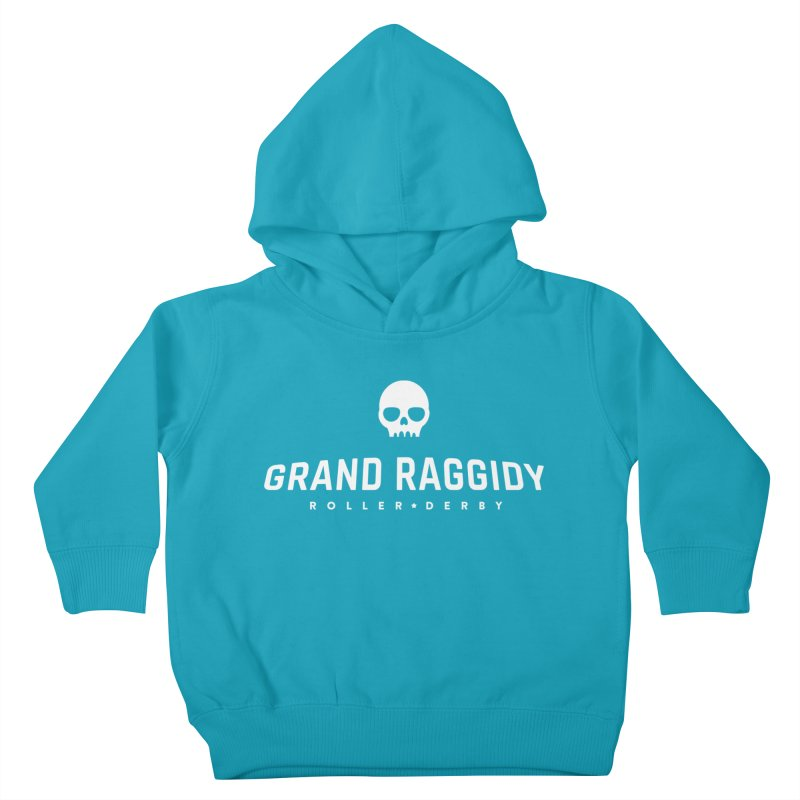 Skull Logo - Reverse Kids Toddler Pullover Hoody by Grand Raggidy Roller Derby