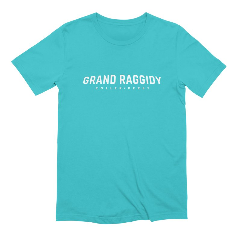 Wordmark - Reverse Men's Extra Soft T-Shirt by Grand Raggidy Roller Derby