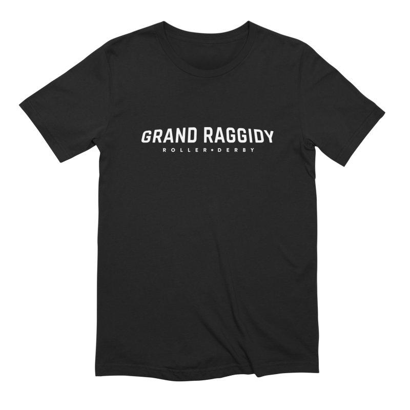 Wordmark - Reverse Men's Extra Soft T-Shirt by Grand Raggidy Roller Derby