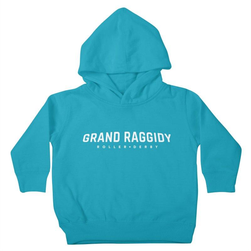 Wordmark - Reverse Kids Toddler Pullover Hoody by Grand Raggidy Roller Derby