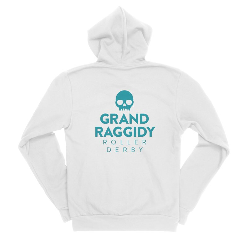 Stacked Logo Men's Zip-Up Hoody by Grand Raggidy Roller Derby