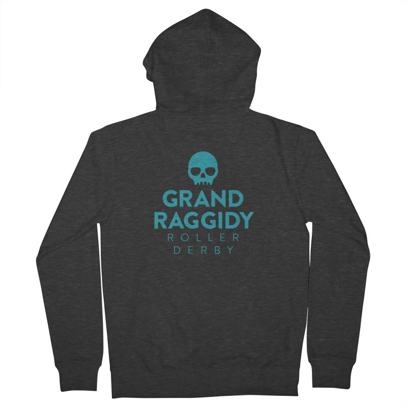 Stacked Logo in Women's French Terry Zip-Up Hoody Smoke by Grand Raggidy Roller Derby