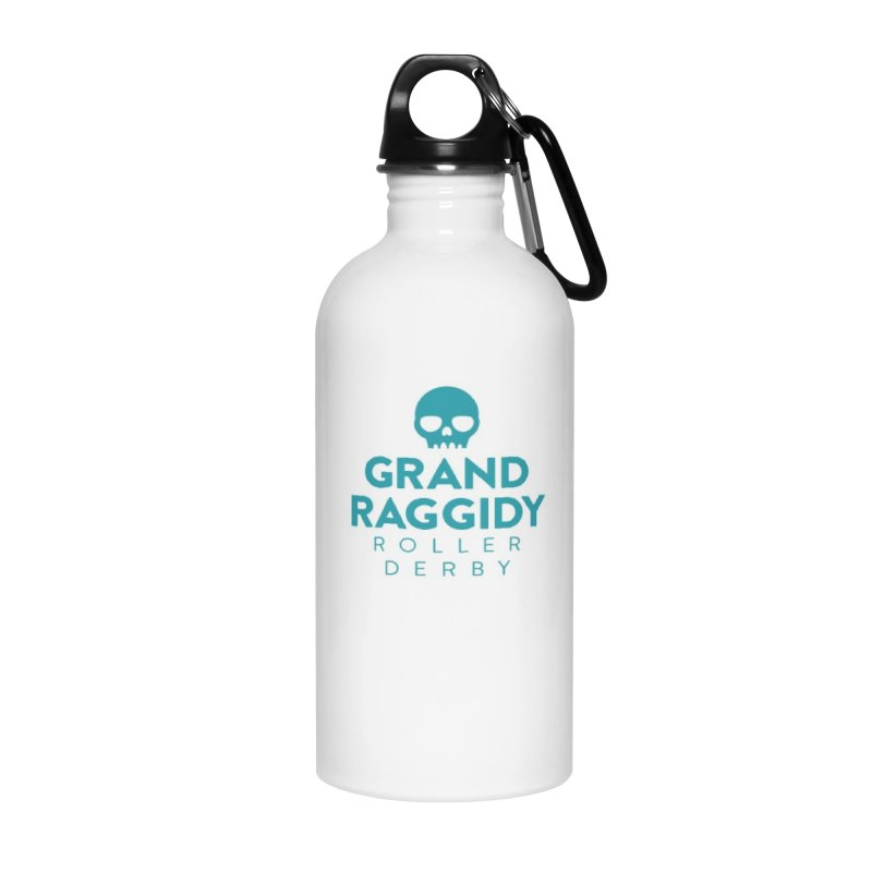 Stacked Logo Accessories Water Bottle by Grand Raggidy Roller Derby