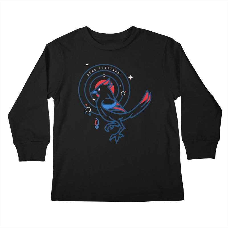 Stay Inspired Kids Longsleeve T-Shirt by Graphicblack