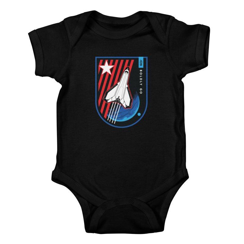 Boldly Go Kids Baby Bodysuit by Graphicblack