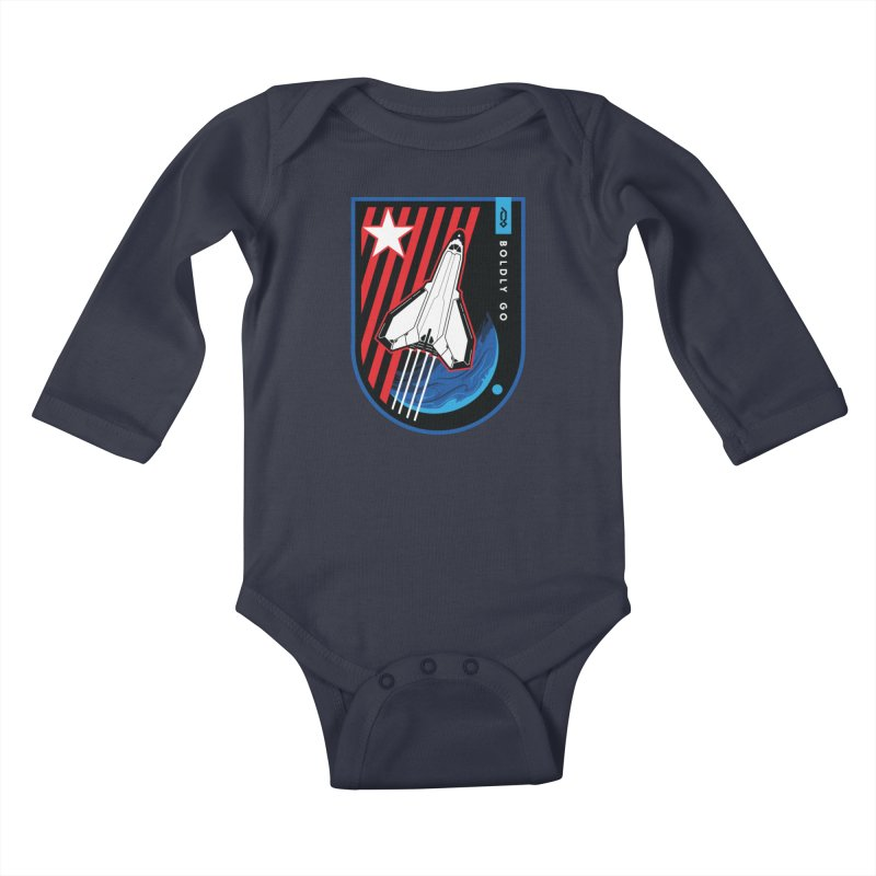Boldly Go Kids Baby Longsleeve Bodysuit by Graphicblack