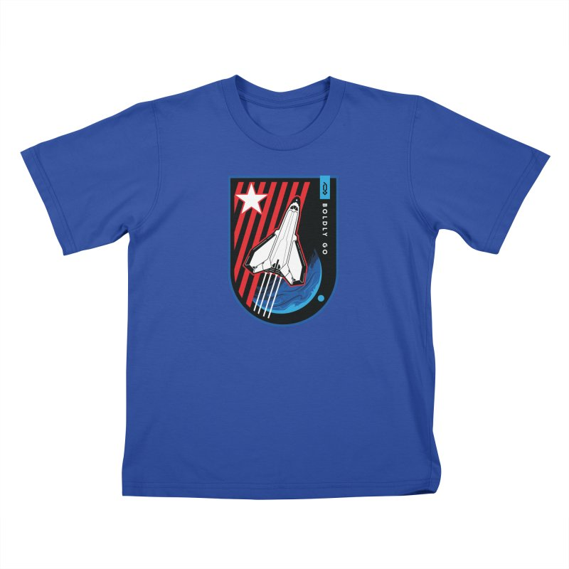 Boldly Go Kids T-Shirt by Graphicblack
